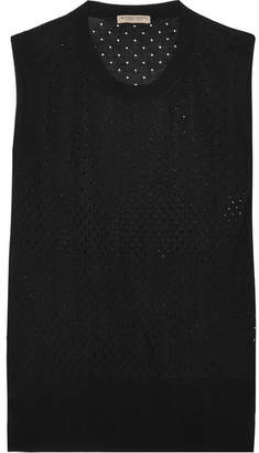 Bottega Veneta Perforated Silk Tank - Black