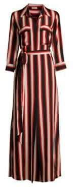 L'Agence Cameron Cabana Stripe Shirtdress
