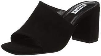Dune Women's Marsaye Open Toe Sandals, Black-Suede, 4 (37 EU)