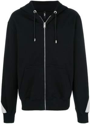 Versus zipped hooded jacket