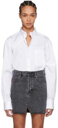 Vetements White Cut-Up Plan Shirt