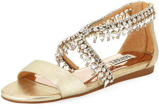 Badgley Mischka Tristen II Metallic Leather Sandals