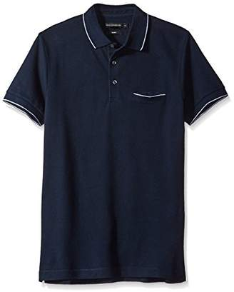 French Connection Men's Short Sleeve Solid Color Slim Fit Polo Shirt
