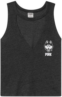PINK University of Connecticut Choker Neck Muscle Tank