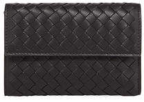 Bottega Veneta Woven Leather Tri-Fold Wallet
