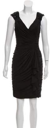 Aidan Mattox Embellished Ruched Dress