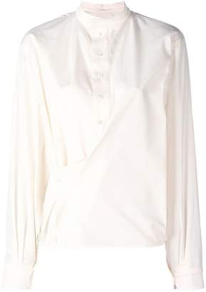 Lemaire deconstructed gathered blouse