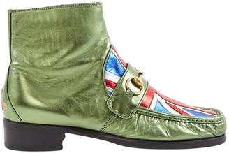Gucci Metallic Leather Boots