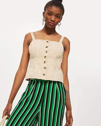 Topshop Structured Button Down Camisole Top
