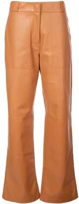 Loewe mid-rise wide-leg trousers
