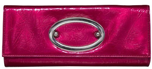 Angie & Lola Large Oval Closure Clutch - Pink