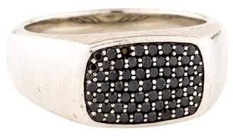 David Yurman Diamond East-West Signet Ring