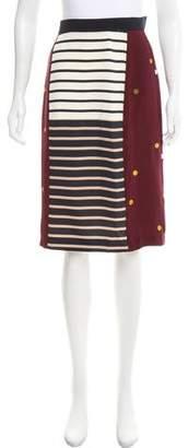 Sophie Hulme Silk Knee-Length Skirt