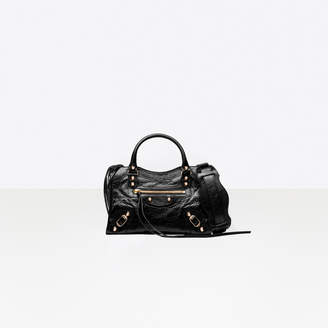 "Balenciaga Cross body lambskin bag, mini version of the iconic bag the ""City"""