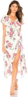 MinkPink Pretty Petals Wrap Dress