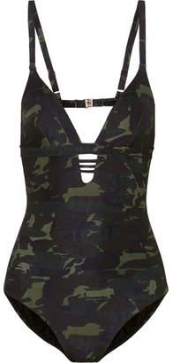Melissa Odabash Amazon Cutout Camouflage-print Swimsuit