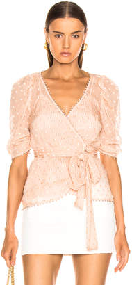 Alice McCall Moon Talking Wrap Blouse in Nude | FWRD