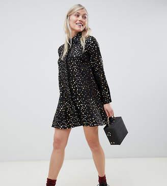 Glamorous Petite shirt dress in star print