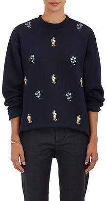 Marni Women's Dancer-Embroidered Cotton-Blend Sweatshirt