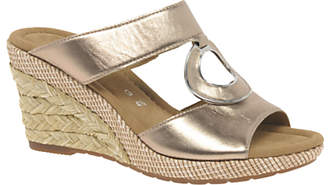 Gabor Sizzle Wide Fit Wedge Heeled Sandals, Light Pink