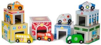 Melissa & Doug Nesting & Sorting Buildings & Vehicles Set