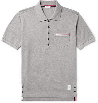 Thom Browne Slim-fit Cotton-piqué Polo Shirt