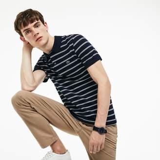 Lacoste Men's Regular Fit Striped Pique Polo
