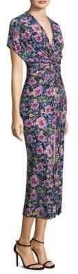 Prabal Gurung Floral Twist-Front Dress