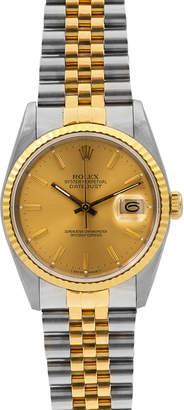 Rolex Pre-Owned 34mm Men's Datejust Two-Tone Bracelet Watch