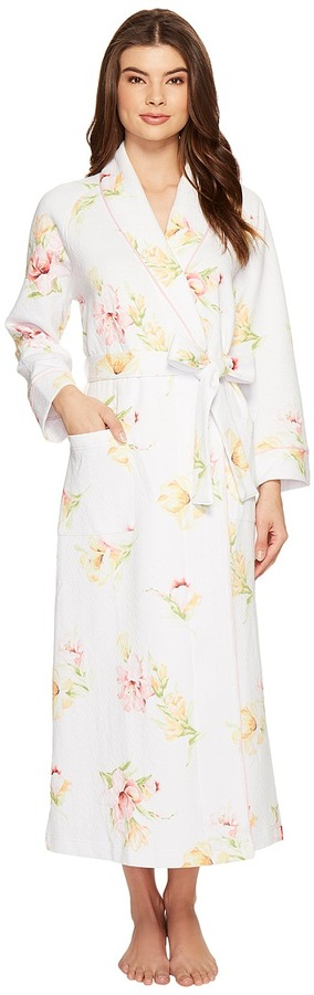Carole HochmanCarole Hochman - Diamond Quilt Long Robe Women's Robe