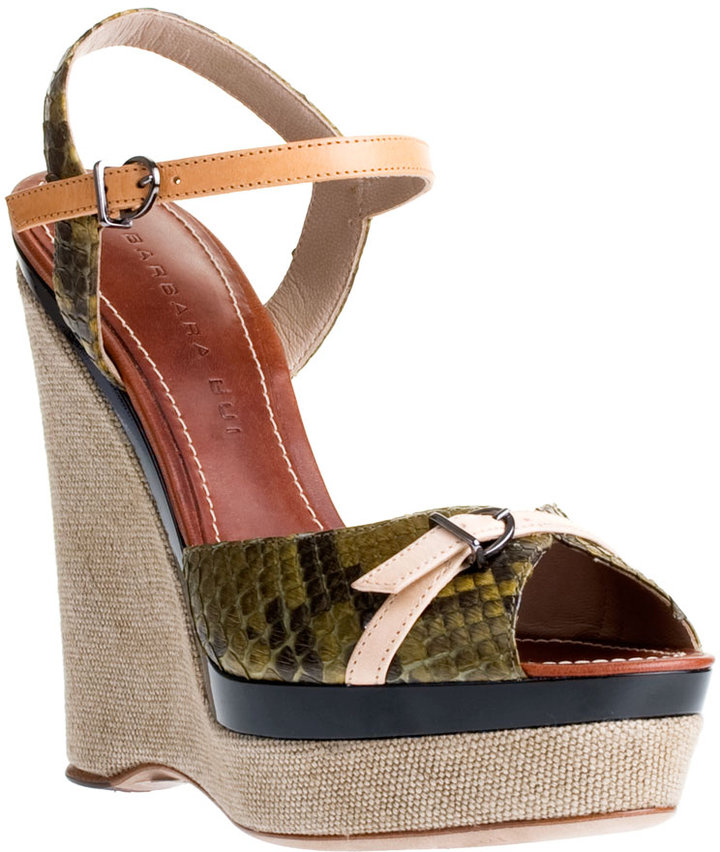 BARBARA BUI Python and canvas wedge