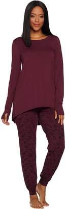Anybody AnyBody Loungewear Petite Cozy Knit Novelty Print PJ Set