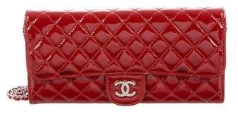 Chanel Patent E/W Wallet On Chain