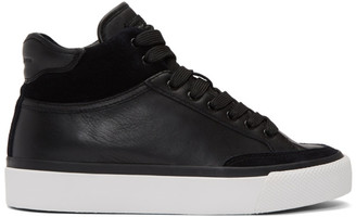 Rag & Bone Black RB Army High-Top Sneakers