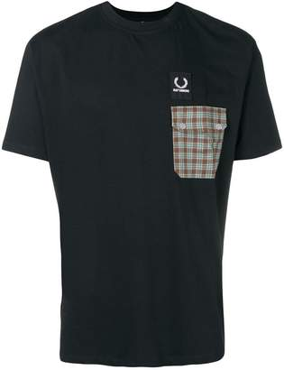 Fred Perry plaid pocket tee