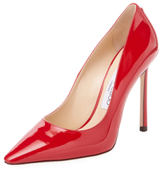 Jimmy Choo Romy 110mm Patent Leather Pointed-Toe Pump