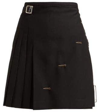 Le Kilt - Pleated Wool Skirt - Womens - Black