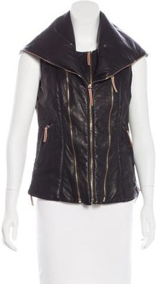 Jerome Dreyfuss Layered Leather Vest
