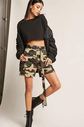 Forever 21 High-Waist Camo Print Shorts