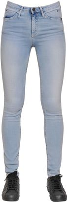 Skinny Stretch Cotton Denim Jeans $157 thestylecure.com