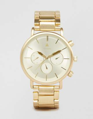 ASOS Bracelet Watch in Brushed Gold $40 thestylecure.com