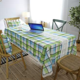 Camilla And Marc koyiscloth Modern Simple Lattice Table Cloth Restaurant Dining Tablecloth Polyester Living Room Decoration Party Tablecloth Wedding Decoration Cloth 140 X 220 cm 55x87 inch