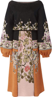 Etro Rutland Floral-Print Cotton-Blend Midi Dress