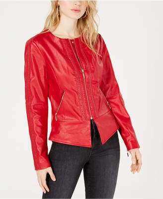 GUESS Mae Flirty Faux-Leather Jacket