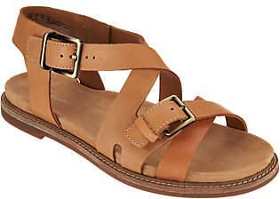 Clarks Artisan Leather Criss Cross Sandals -Corsio Bambi