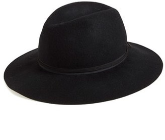 Women's Hinge Felted Wool Panama Hat - Black $39 thestylecure.com