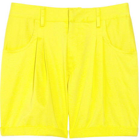 Adam Turn-up cotton-blend shorts