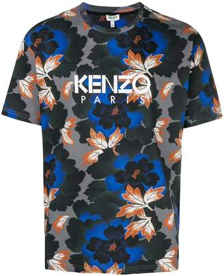 Kenzo Indonesian Flower printed T-shirt