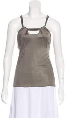 Versace Sleeveless Jersey Top