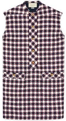 Gucci Check tweed tunic dress